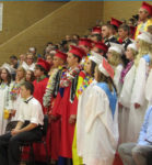 Tradition changed to one color graduation gowns for seniors